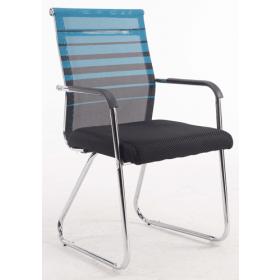 Konferenzstuhl Verona – Zweifarbig - Rückenlehne atmungsaktiv - Blau