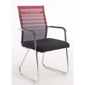Konferenzstuhl Verona – Zweifarbig - Rückenlehne atmungsaktiv - Rot