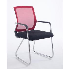 Konferenzstuhl Toledo – Zweifarbig - Rückenlehne atmungsaktiv - Rot