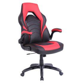 Gaming-Stuhl Prime - Rot - Ergonomisch, auf Rollen & klappbare Armlehnen