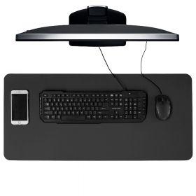 Schreibtischunterlage / Schreibtischmatte - 40x85 cm - PU-Leder - Schwarz