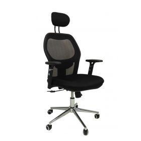 Ergonomischer Bürostuhl - Chefsessel XXL - Schwarz - Belastbar bis 120 kg