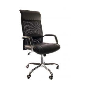 Design-Chefsessel - Livorno - Schwarz - Exklusive Optik aus starkem Materialmix