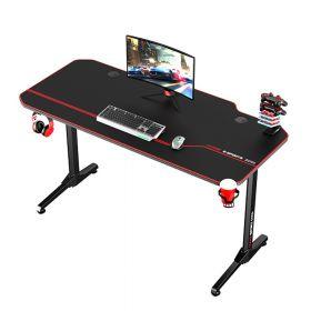 Gaming-Schreibtisch - Feste Höhe - 140 x 66 cm - Schwarz/Rot - Sehr funktional & erweiterbar