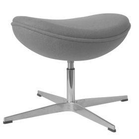 Egg-Chair-Hocker - Grau - Passende Fußbank für den Ei-Stuhl