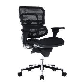 COMFORT Bürostuhl Ergohuman Classic - ohne Kopfstütze - Stoffbezug - Schwarz