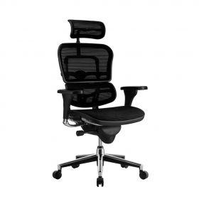 COMFORT Bürostuhl Ergohuman Classic - mit Kopfstütze - Schwarz