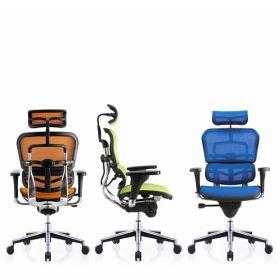 COMFORT Bürostuhl Ergohuman Classic – mit Kopfstütze  – verschiedene Farben