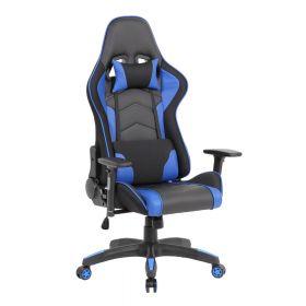 "Ergonomischer Gaming-Stuhl ""Advanced"" - Blau - Funktionales & modernes Design"