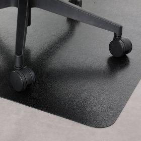 """PVC-Bürostuhlunterlage """"Hartboden"""" - Schwarz -  90  x 120 cm - Bodenschutzmatte für Hartböden"""