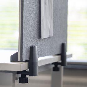 """Schreibtisch-Trennwand - 58x160cm - Pinnwand/Whiteboard """"2 in 1"""" - Antibakteriell - Einzeltisch - Zum Klemmen"""