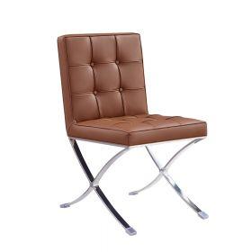 Esstisch Stuhl Barcelona (Replika) - modernes Design in Cognac - auch für Bar & Lounge