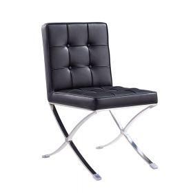 Esstisch Stuhl Barcelona (Replika) - modernes Design in Schwarz - auch für Bar & Lounge