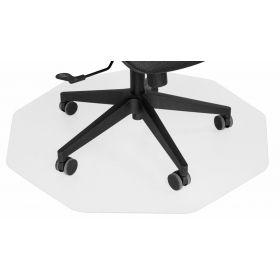 Bodenschutz - Bürostuhlmatte - 96x99 cm - Transparent
