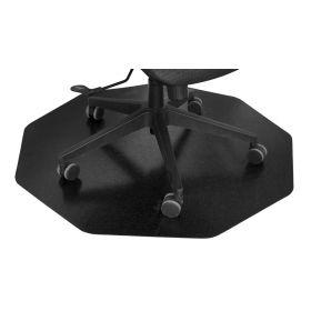 Bodenschutz - Bürostuhlmatte - 96x99 cm - Schwarz