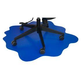 """Bodenschutz  """"Splash"""" - Bürostuhlmatte - 101x101 cm - Blau"""