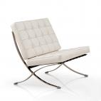 Sessel Barcelona (Replika) – moderner Klassiker - Weiß