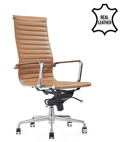 Büro-Stühle aus echtem Leder