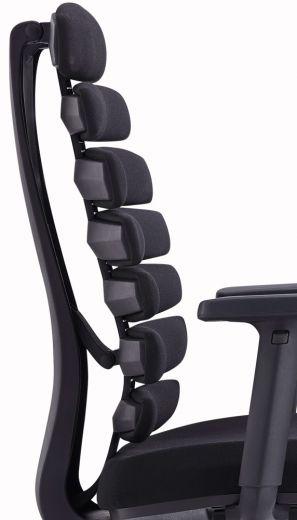 Design-Bürostuhl Flex - Ergonomischer Stuhl auf Rollen mit flexibler Rückenlehne